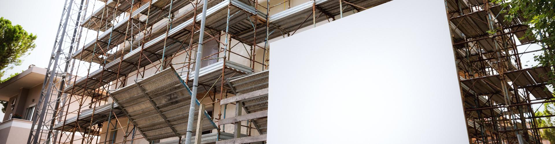 工事現場のフェンス看板(サイズ約2m×1m)
