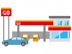 大手ガソリンスタンドのロゴマーク用ステッカー