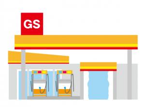 大手ガソリンスタンドのロゴマークステッカー